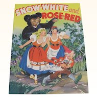 1938 Snow White and Rose Red Children's Book