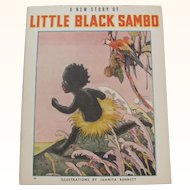 1939 A New Story of Little Black Sambo Book