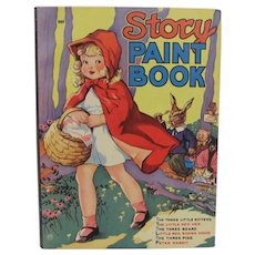 1939 Story Paint Book Little Red Riding Hood Unused