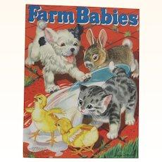 1940 Farm Babies Children's Book
