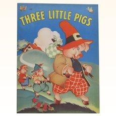 1941 Three Little Pigs Children's Book