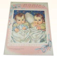 1941 Babies Children's Book Maud Tousey Fangel