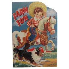 1942 Farm Fun To Color Unused
