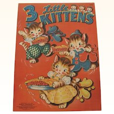 1942 Three Little Kittens Children's Book