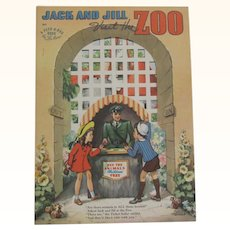 1942 Jack and Jill Visit the Zoo Children's Book