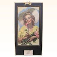 1943 Lovely Lady Calendar By Zoe Mozert