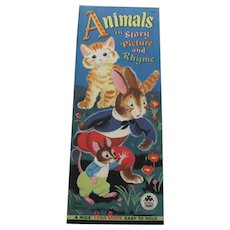 1948 Animals in Story and Rhyme Children's Book