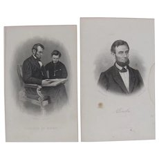 Two Steel Engravings of Abraham Lincoln