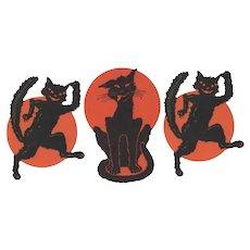 Halloween Three Cat Cutouts Dennison
