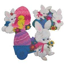 Three Hallmark Easter Cutout Decorations #1