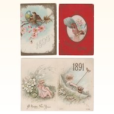 3 Charming Small Advertising Calendars 1891-1896-1902