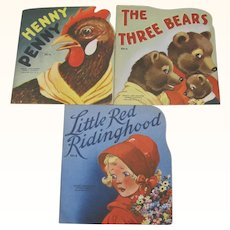 1950 Books Three Bears Little Red Riding Hood Henny Penny
