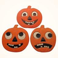Halloween Three Small Embossed JOL's
