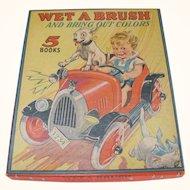 1944 Boxed Set Wet A Brush Paint Books