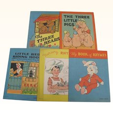 Five Little Children's Books 3 Bears 3 Little Pigs Red Riding Hood Etc