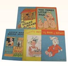 Five Little Children's Books 3 Bears 3 Little Pigs Red Riding Hood Etc