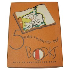 1932 Five Something To Do Boxed Cards by Whitman