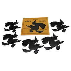 Pkg 5 Halloween Witches Cutouts by Dennison