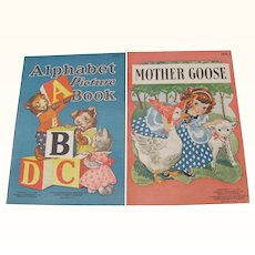1940 Alphabet & Mother Goose Small  Books