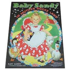 1940 Baby Sandy In Mother Goose Land Children's Book
