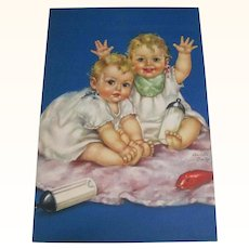 Print Of Boy and Girl Baby Twins Charlotte Becker
