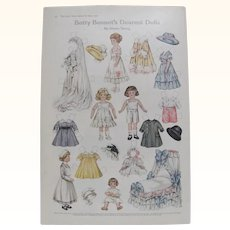 1916 Betty Bonnet's Dearest Dolls by Shiela Young
