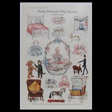1918 Betty Bonnet's May Basket by Shiela Young