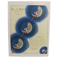 1926 Blue Moon Silk Stocking Advertisement