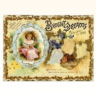 1900 Bright Dreams Embossed 4 Page Calendar Children