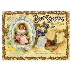 1900 Bright Dreams Embossed 4 Page Calendar Children