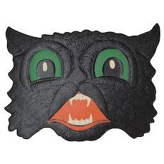 Halloween Black Cat Face Embossed