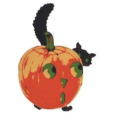 Halloween JOL Hiding Black Cat Die Cut