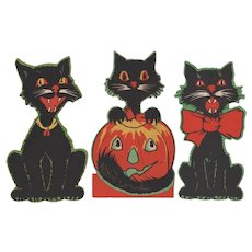 Halloween Three Gibson Cats Cut Outs
