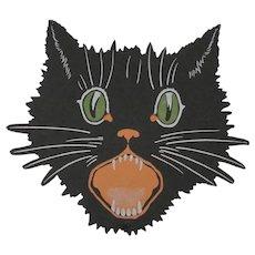 Halloween Black Cat Face Flat Cutout