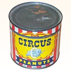 1946 Circus Salted Peanuts Tin