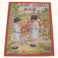 1930 Baby Animal Book Real Cloth