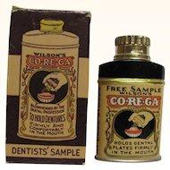 CO-RE-GA Sample Tin Wilson's Dental Powder Boxed