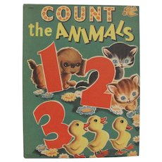 1950 Count The Animals Children's Book