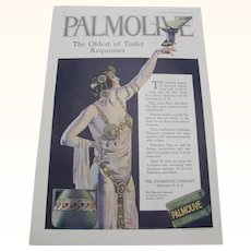 1919 Palmolive Soap Ad by Coles Phillips