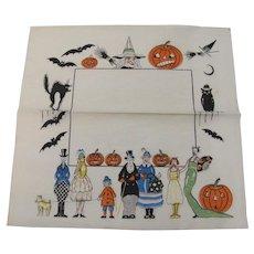 Halloween Crepe Paper Napkin
