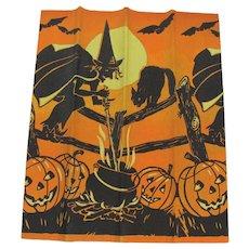 Halloween Dennison Decorated Crepe Paper Unused