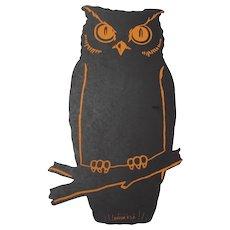 Halloween Dennison Owl Cut Out Decoration