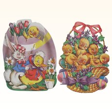 Two Easter Cut Out Decorations