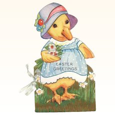 Embossed Die-Cut Little Duck Easter Booklet