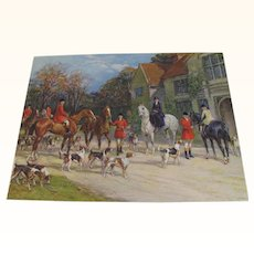 Print of English Fox Hunting