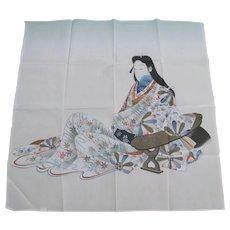 Vintage Geisha Girl Scarf