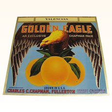 Crate Label Golden Eagle Oranges