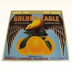 Crate Label Golden Eagle Oranges