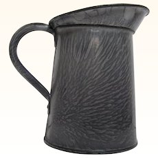 Grey Graniteware Small Pitcher 5 inch