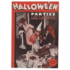1934 Halloween Party Book by Dennison
